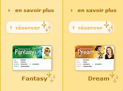 Eurodisney passeports fantasy et Dream